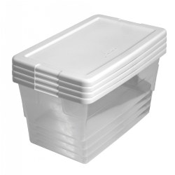 6 Quart Storage Container Set - Set of 4