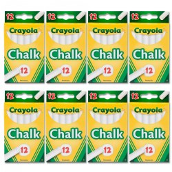 Crayola® White Chalk - 8 Boxes - 100 Sticks