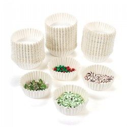 White Craft Cups - 100 Pieces