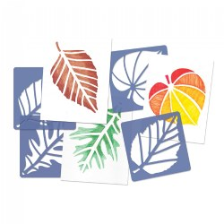 "Perfect Leaf Stencil Set 8"" - 12 Pieces"