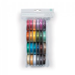 "Solid Satin 1/2"" Ribbon - 24 Colors"