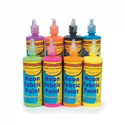 Neon Fabric Paint - Set of 8 Colors