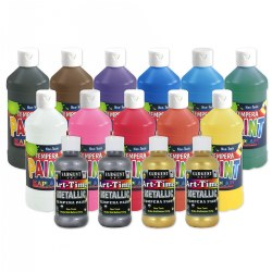 Kaplan Kolors Tempera 16 oz. - 13 Colors