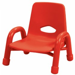"Nature Color Chunky Stackable 5 1/2"" Chair - Red"