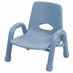 "Nature Color Chunky Stackable 6 1/2"" Chair - Light Blue"