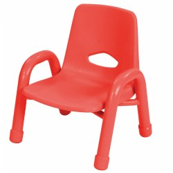 "Nature Color Chunky Stackable 7 1/2"" Chair - Red"
