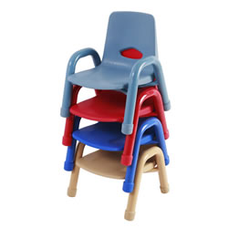 Nature Color Chunky Stackable Chairs