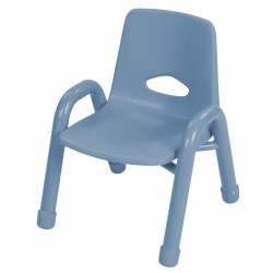 "Nature Color Chunky Stackable 9 1/2"" Chair - Light Blue"