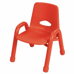 "Nature Color Chunky Stackable 9 1/2"" Chair - Red"