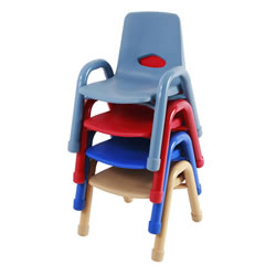 "Nature Color Chunky Stackable 9 1/2"" Chairs"
