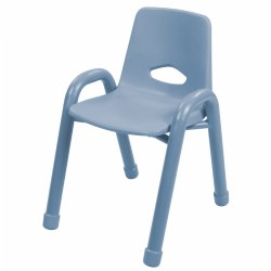 "Nature Color Chunky Stackable 13 1/2"" Chair - Light Blue"