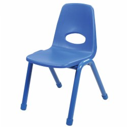 "Nature Color Chunky Stackable 17 1/2"" Teacher Chairs"