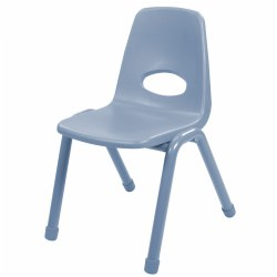 "Nature Color Chunky Stackable 17.5"" Chairs - Light Blue - Set of 4"