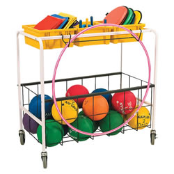 Mobile Metal Frame Ball Cart