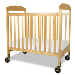 Serenity Fixed-Side Clearview Compact Crib - Natural