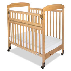 Serenity SafeReach™ Clearview Compact Crib - Natural