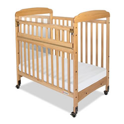 Serenity SafeReach™ Clearview Compact Crib with Mirror - Natural