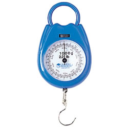 This sturdy plastic spring is a must for every science center. It is calibrated in grams and pounds with a zero adjustment dial for accuracy. 1000g./2.2 lb.
