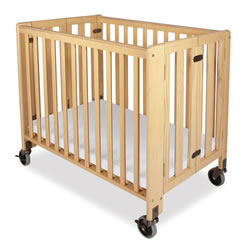 Compact HideAway™ Folding Fixed-Side Crib