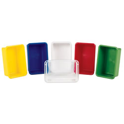 Vibrant Color Storage Bins (Set of 5)