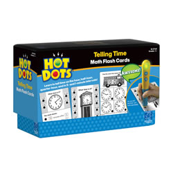 Telling Time Hot Dots® Flash Cards