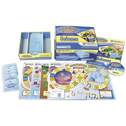 Includes 25 individually packaged sets of 30 colorful, review cards per topic - a total of 750 curriculum-based questions! Also includes 12 double-sided, laminated game boards; comprehensive Teacher Planning & Resource Guide; Classroom Presentation CD featuring interactive questions for PC, Mac or projection use; free online subscription; and reusable storage container. Complete curriculum coverage of 25 standards-based topics.