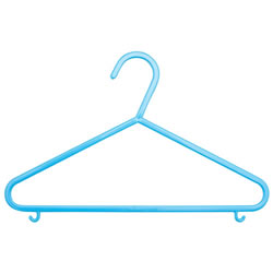Basic hanger made in an ultra-slim design. Perfect for newborn clothing through toddler. 10 pack pink or blue hangers.