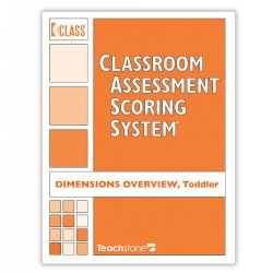 This tri-fold laminated sheet is a handy reference for users of the popular CLASS® Toddler observation tool. Available in convenient packages of 5, this sturdy quick-sheet shows evaluators what to look for while observing each of the 8 CLASS® Toddler dimensions and scoring the tool. This product is part of CLASS®, the bestselling classroom observational tool that measures interactions between children and teachers -- a primary ingredient of high-quality early educational experiences. With versions for toddler programs, PreK, and K-3 classrooms, the reliable and valid CLASS® tool establishes an accurate picture of the classroom through brief, repeated observation and scoring cycles and effectively pinpoints areas for improvement. Set of 5.