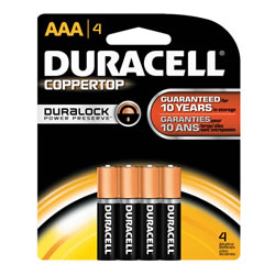 Duracell® Coppertop Batteries