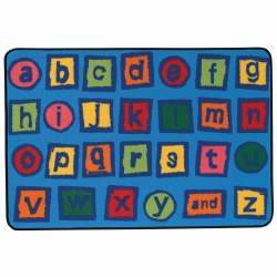 Alphabet Blocks KID$ Value Rug - 4' x 6'