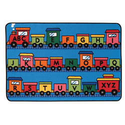 Alphabet Train KID$ Value Rug - 4' x 6'