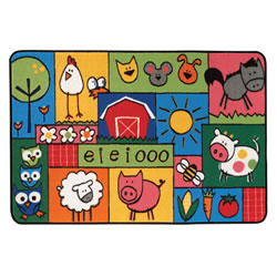 Old MacDonald Farm KID$ Value Rug - 4' x 6'