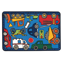 Wheels on the Go KID$ Value Rug - 4' x 6'