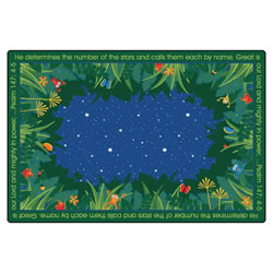 He Numbers the Stars Rug - 4' x 6' - Rectangle