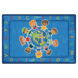 All God's Children Circletime Rug 4' x 6'