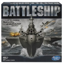 "7 years & up. The classic naval combat game -- call out suspected hiding areas and keep track of hits and misses in order to sink your enemy's ships. Helps improve memory skills. Includes 2 portable battle cases, 10 plastic ships, 84 red ""hit"" pegs, 168 white ""miss"" pegs, label sheet, instructions. For 2 players."