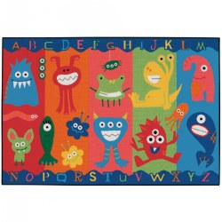 Alphabet Monsters KID$ Value Rug - 4' x 6'