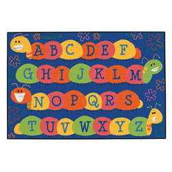 Caterpillar Friends Blue KID$ Value Rugs