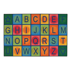Simple Alphabet Blocks KID$ Value Rugs