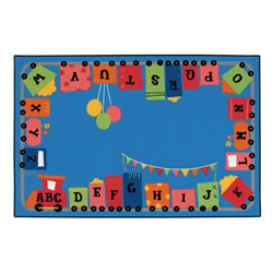 Alpha Fun Train KID$ Value PLUS Rug - 6' x 9'