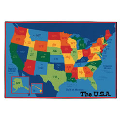 USA Map KID$ Value Rug - 4' x 6'