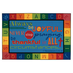 Always Be Joyful Circletime Rug - 6' x 9' Rectangle