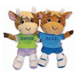 Genna and Russ Plush Set (Set of 2)