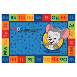 ABCmouse.com Letter Pairs Carpet - 6' x 9' Rectangle (Factory Second)