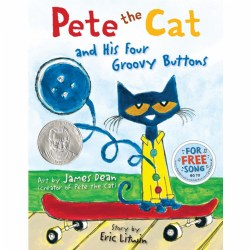 4 - 8 years. Pete the Cat is wearing his favorite shirt--the one with the four totally groovy buttons. But when one falls off, does Pete cry? Goodness, no! He just keeps on singing his song--after all, what could be groovier than three groovy buttons? Hardback. 40 pages.