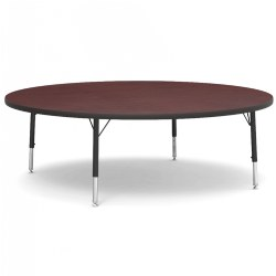 "48"" Round Walnut Table with Adjustable Legs"