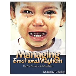 "The way adults handle emotional upset when children are throwing fits, backtalking, name-calling, being defiant and withdrawing will either foster or inhibit their ability to develop self-regulation. ""Managing Emotional Mayhem"" lays a conceptual foundation, explores limiting beliefs, presents new adult skills and teaches us how to coach children in this transformative self-regulation process. 168 pages."