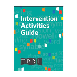 TPRI Intervention Activities Guide