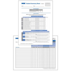 TRPI Student Record and Class Summary Sheets - Grade 1