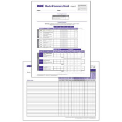 TRPI Student Record and Class Summary Sheets - Grade 3